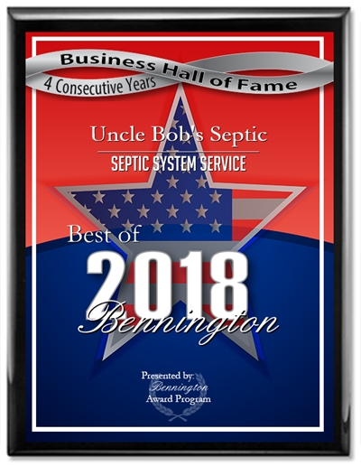 Uncle-Bobs-Septic- 2018-Bennington Business-Hall-of-Fame